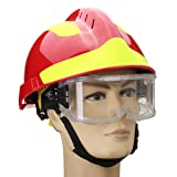 WCHAOEN NEW Safurance Rescue Helmet And Goggles Fire Fighter Protective Glasses Safety Protector Workplace Accessories Tool