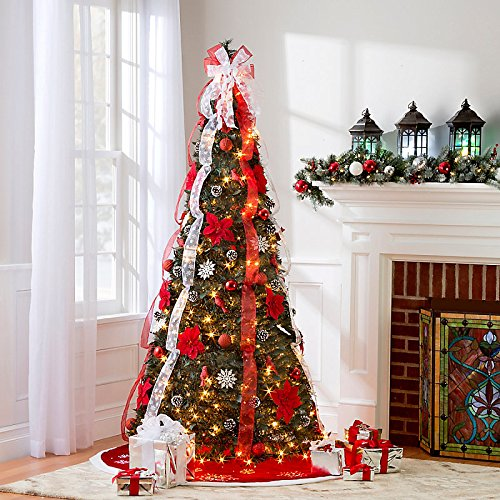 Charming Lighted Poinsettia Pull Up Christmas Tree Pull Up Christmas Tree 6u2032  Cardinal ...