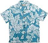 (マルカワジーンズパワージーンズバリュー) Marukawa JEANS POWER JEANS VALUE アロハシャツ キッズ 半袖 シャツ ハイビスカス 5color 150 ライトブルー