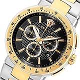 ヴェルサーチ ミスティック スポーツ クロノ クオーツ メンズ 腕時計 VFG100014 ブラック 腕時計 海外インポート品 その他メンズ[輸入品] [並行輸入品]