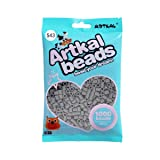 Artkal Midi Beads Gray Scale Color 1000 Count Pixel Fuse Beads DIY Educational Toys (S43) (Color: S43)