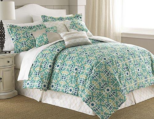 Natasha Green Floral Medallion 8-Piece Comforter Set Queen Jade front-384590