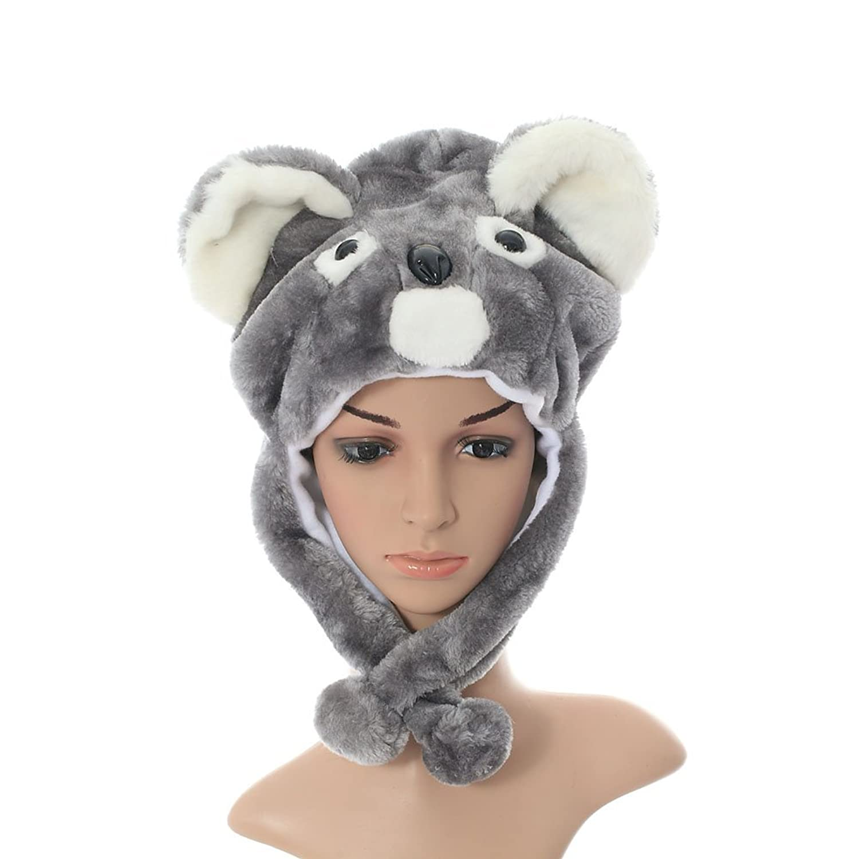 Winter Plush Animal Short Koala Hat with Ear Flaps Christmas Gift hot 17cm janpanese animal plush toy alpaca vicugna pacos lama arpakasso alpacasso soft stuffed plush doll toy christmas gift