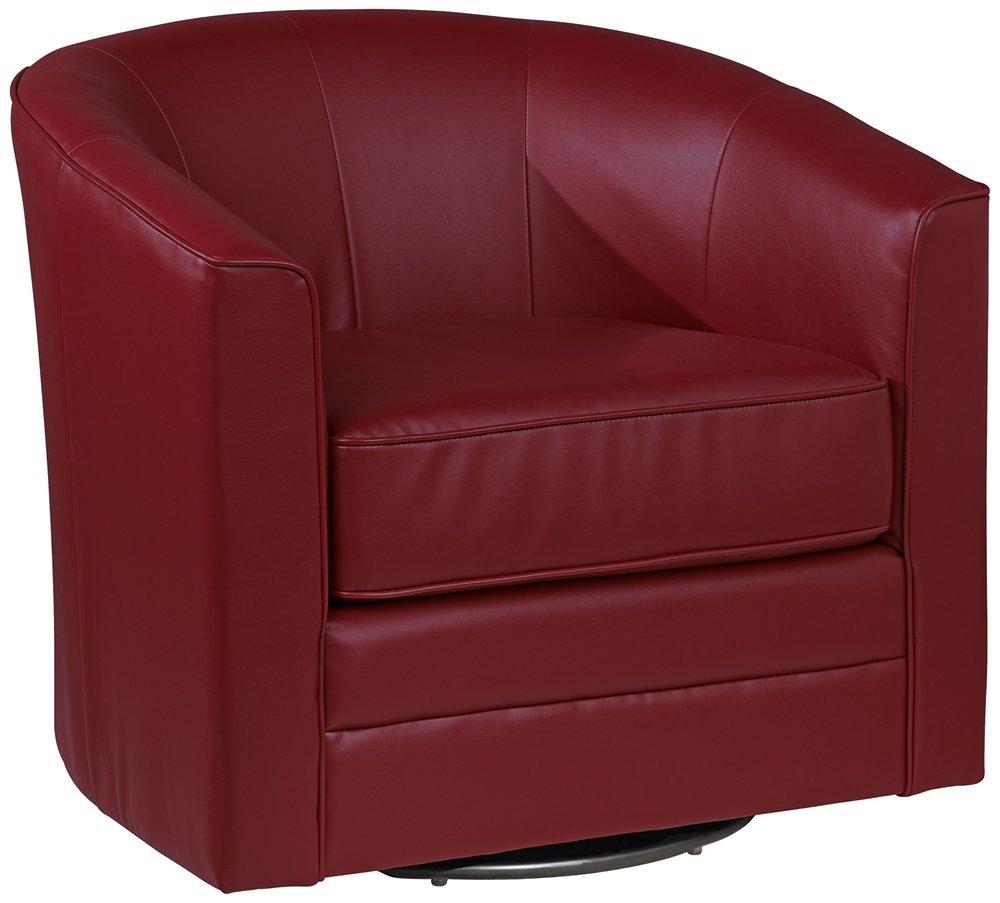 Keller Scarlet Bonded Leather Swivel Tub Chair