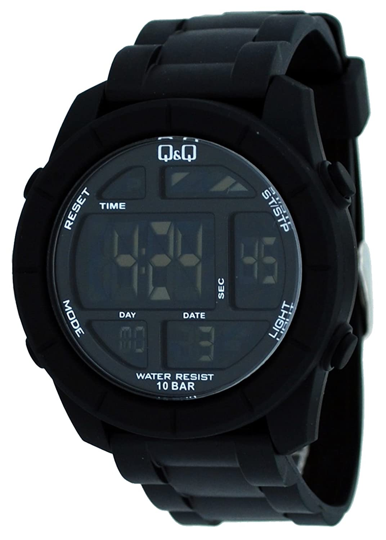 buy q q digital watch for men black m123j001y online at low buy q q digital watch for men black m123j001y online at low prices in amazon in