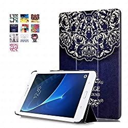 Tab A 7.0 Case - DHZ European Flower Vine Ultra Slim Lightweight Standing Cover for Samsung Galaxy Tab A 7.0 7-inch Tablet 2016 Release (SM-T280 / SM-T285)