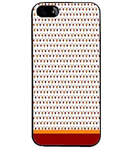 PrintDhaba Heart Pattern D-1663 Back Case Cover for APPLE IPHONE 4S (Multi-Coloured)
