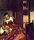 The Museum Outlet - A woman asleep by Vermeer - Canvas Print Online Buy (24 X 32 Inch)