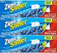 Ziploc Slider Storage Bags Gallon Value Pack 32 ct (Pack Of 3)