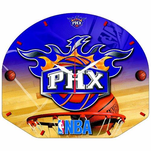 NBA Phoenix Suns High Definition Clock Backboard Shaped
