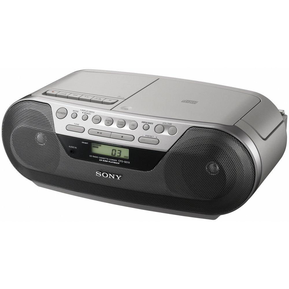 Radio Lecteur K7 CD et MP3 SONY CFDS05 GRIS