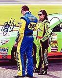 2X AUTOGRAPHED 2013 Danica Patrick & Ricky Stenhouse Jr. NASCAR Couple 8X10 Glossy Photo with COA