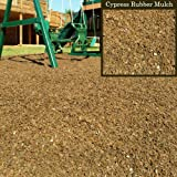Swing Set Playground Rubber Mulch 75 Cu.Ft. Pallet-Cypress Brown