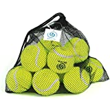 Pressureless Tennis Balls With Mesh Carrying Bag, Sturdy & Durable, Long Lasting - Great For Lessons, Practice...