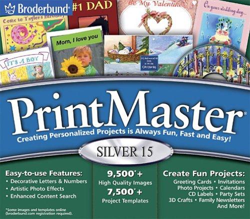 PrintMaster Silver 15 Jewel CaseB00008IAV6 : image