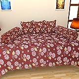 SEVEN STARS Cotton 6 Piece Single Deewan Set - Floral, Maroon & Yellow
