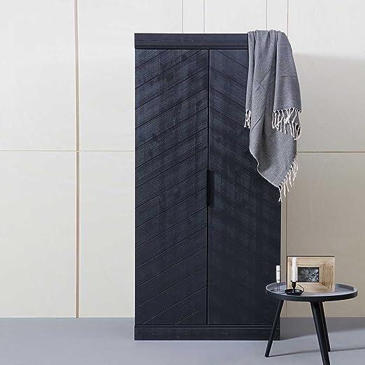 Schlafzimmer Kleiderschrank in Schwarz Kiefer Pharao24