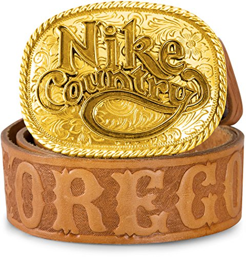 Nike Oregon 'country' Cintura in pelle-Marrone Chiaro, Uomo, Tan, M