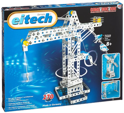 Eitech-00005-Metallbaukasten-Kran-Hebebrcke-Windmhle-Set-270-teilig