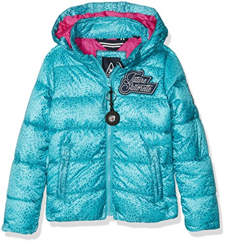 Gaastra Swim Jacket Aop Girls, Giacca Bambina, Blu (Faded Emerald E00), Taglia Unica (Taglia Produttore: 164)