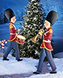 Marching Christmas Toy Soldier Garden Stake Drum