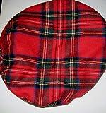 Wool plaid Christmas beret