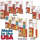 Nylabone Dura Chew Wolf Peanut Butter Flavored Bone Dog Chew Toy