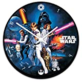 Vandor 99089 Star Wars Cordless Wood Wall Clock, Multicolored