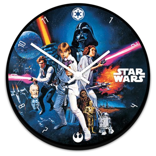 Vandor 99089 Star Wars Cordless Wood Wall Clock, Multicolored