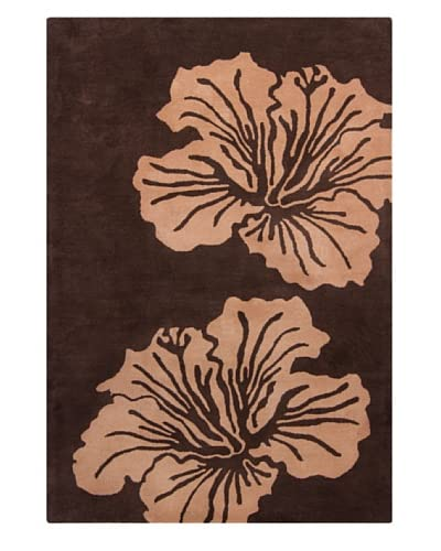 Filament Benita Hand-Tufted Wool Rug, Brown, 5′ x 7′ 6″