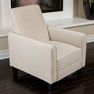 Best Selling Davis Fabric Recliner Club Chair, Light Beige