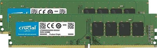 Crucial 32GB Kit (16GB X2) DDR4 2666 MT/S CL19 DIMM 288-Pin Memory - CT2K32G4DFD8266 (Tamaño: 32GB Kit (16GBx2))