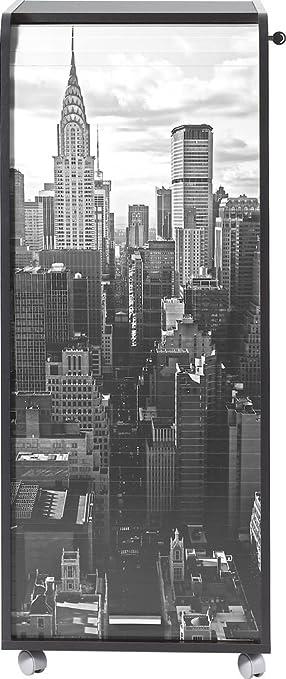 SIMMOB orga110non500nueva york 500gran Subwoofer de escritorio mobile madera negro 47x 47,2x 107,6cm