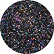 Rainbow Dichroic Glass Black Medium Frit - 90 COE - 1 Oz