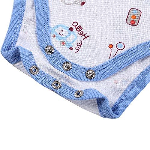 Mother Nest Baby Bodysuit Onesies Clothes Boys 5 Pack(BBT052-6M)