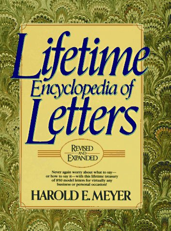 Lifetime Encyclopedia of Letters, Harold E. Meyer