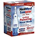 NeilMed Sinugator Cordless Pulsating Nasal Wash with 30 Premixed Packets