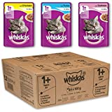 Whiskas 1+ Adult Mixed Selection in Jelly Wet Cat Food Pouch, Pack of 84