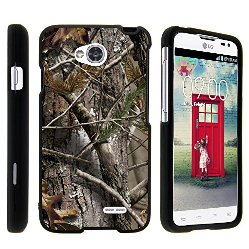 LG Ultimate 2 Phone Case, Full Body Armor Snap On Hard Case Protector Cover with Customized Design for LG Optimus L70 MS323, LG Optimus Exceed 2 VS450PP, LG Realm LS620, LG Ultimate 2 L41C (Metro PCS, Verizon, Boost Mobile) from MINITURTLE | Includes Clear Screen Protector and Stylus Pen - Tree Bark Hunter Camouflage (Lg Ultimate 2 Cases compare prices)