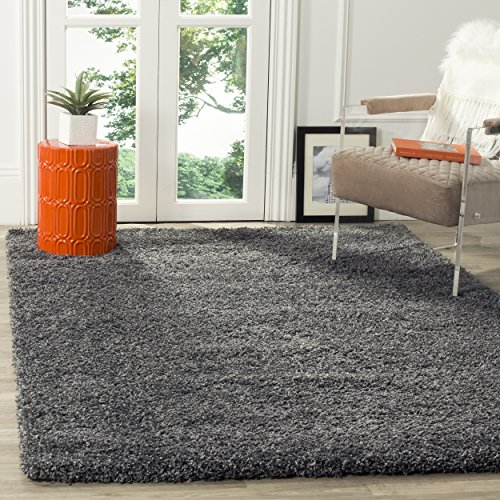 Safavieh California Shag Collection SG151-8484 Dark Grey Area Rug (8 x 10)