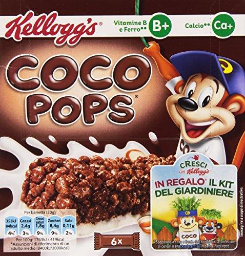 Kellogg'S - Barretta Coco Pops, Vitamina B, Ferro E Calcio - 120 G
