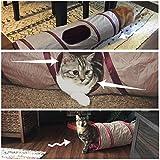 Poppypet Faltbare Katzentunnel Spieltunnel für Kaninchen Katze Kätzchen Welpen Spielzeug Höhle, Kätzchen und Hunde Welpe Trainieren und Spielen -