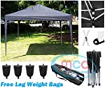 Mcc@home 3x3m Black Pop-up Waterproof...