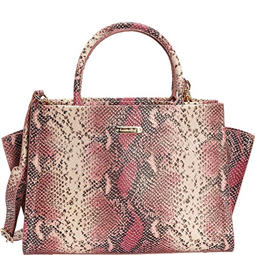leatherbay-alba-italian-leather-satchel-pink-black