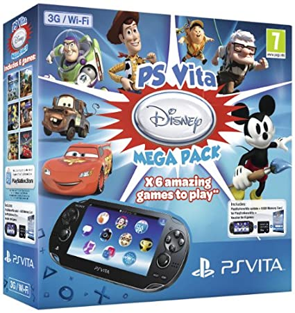 Sony PlayStation Vita 3G Console with Disney Mega Pack on 16GB Memory Card
