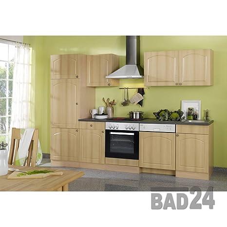 Kuchenleerblock 280 Braga inkl. Spule & APL Buche/Buche dekor