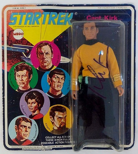 William Shatner Autographed / Signed Rare Captain Kirk Action Figure - JSA Authenticated