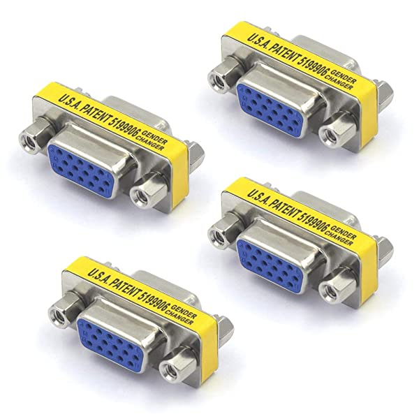 VCE 4-Pack HD15 VGA SVGA Female to Female Mini Gender Changer Coupler Adapter (Color: Micro HDMI to HDMI)