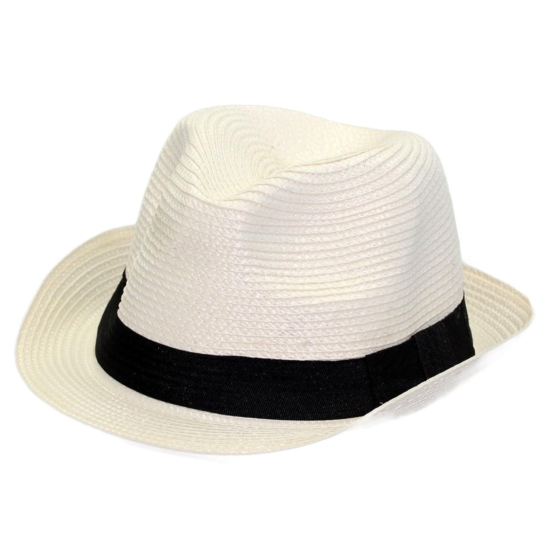 Weisser Party Event Sommerhut mit schwarzem Hutband, Unisex Trend, Hawaii Aloha! günstig online kaufen