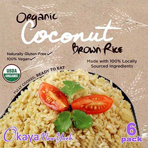 Steamed Brown Rice Bowl Organic , With Organic Coconut, Microwaveable, Net Weight 7.6 Oz (Pack 6)